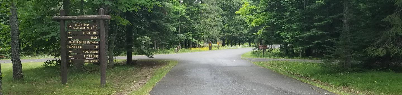 Lake Ottawa Campground entrance