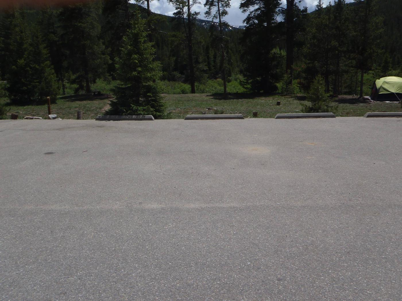 May Queen Campground, site 2 parking