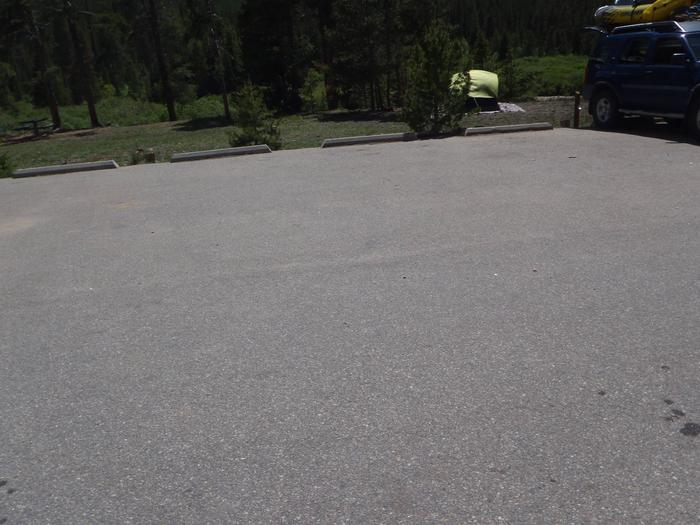 May Queen Campground, site 3 parking