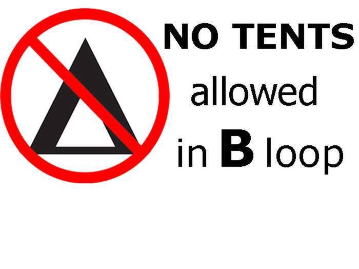 NO TENTS