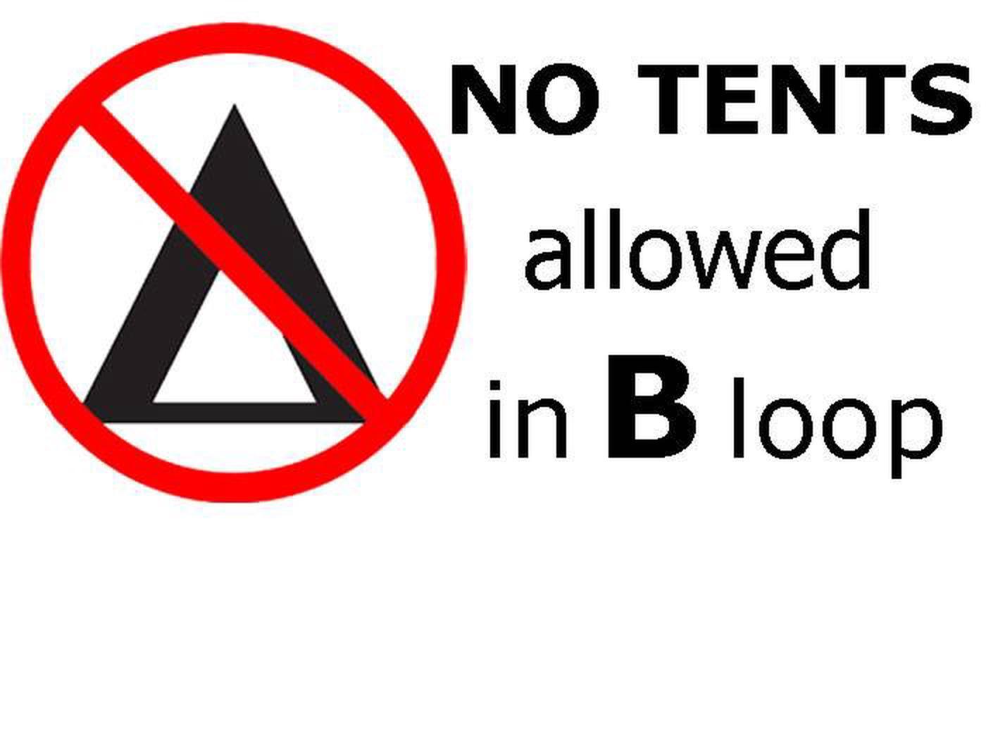 NO TENTS NO TENTS