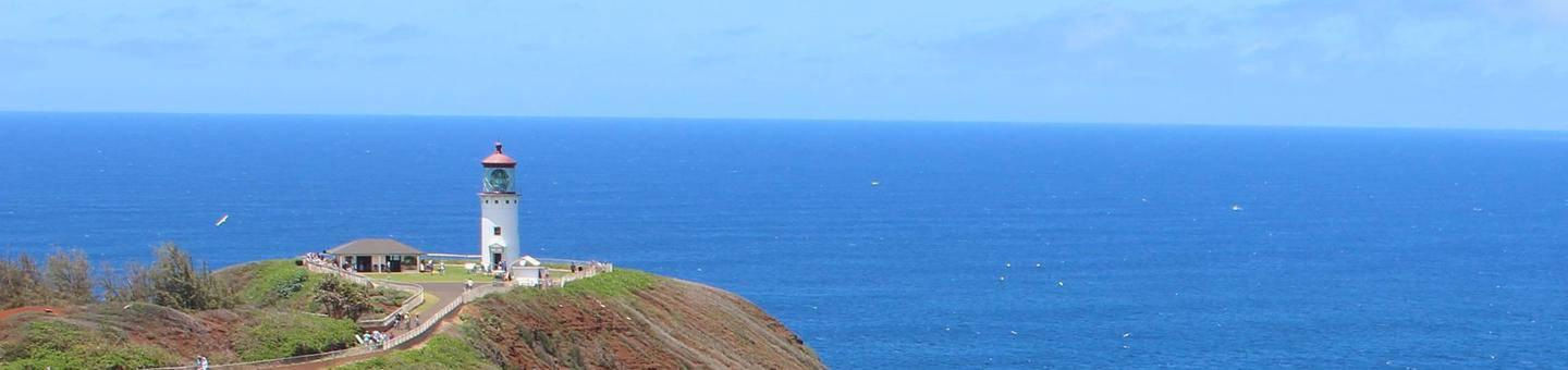 A view of Kilauea Point National Wildlife Refuge and the lighthouse.