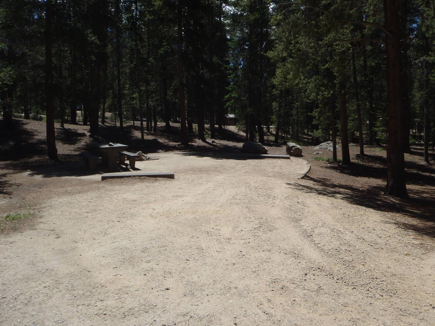 Molly Brown Campground, site 2 parking
