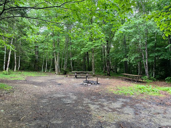 two picnic tables and fire ringcampsite 17