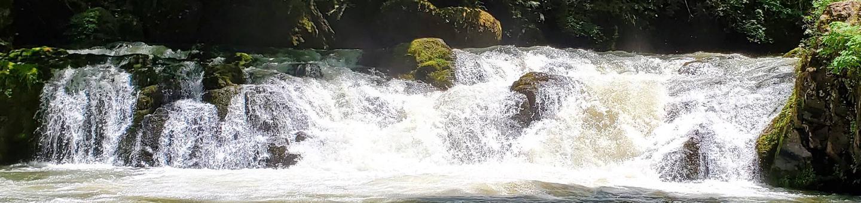 Cavitt Creek Falls during the early summer monthsCavitt Creek Falls