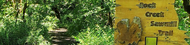 Trail at campgroundSawmill Trailhead