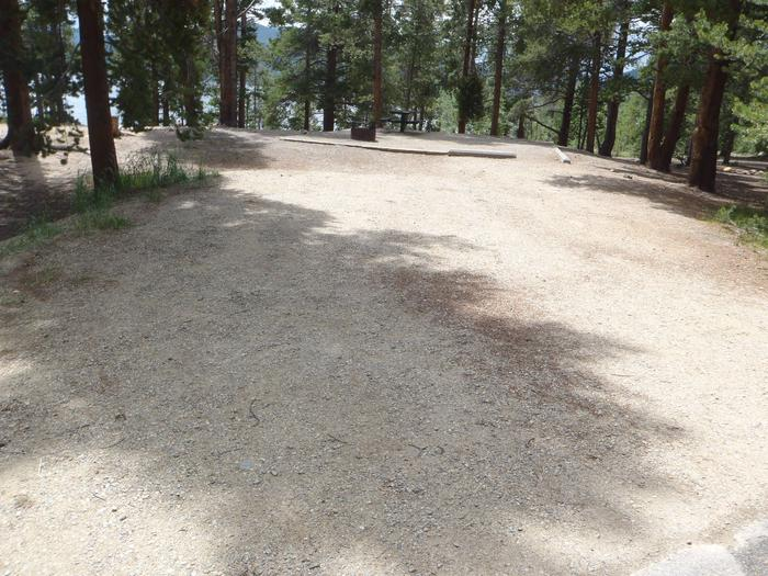 Baby Doe Campground, site 11 parking