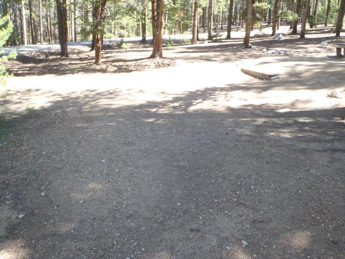 Baby Doe Campground, site 12 parking