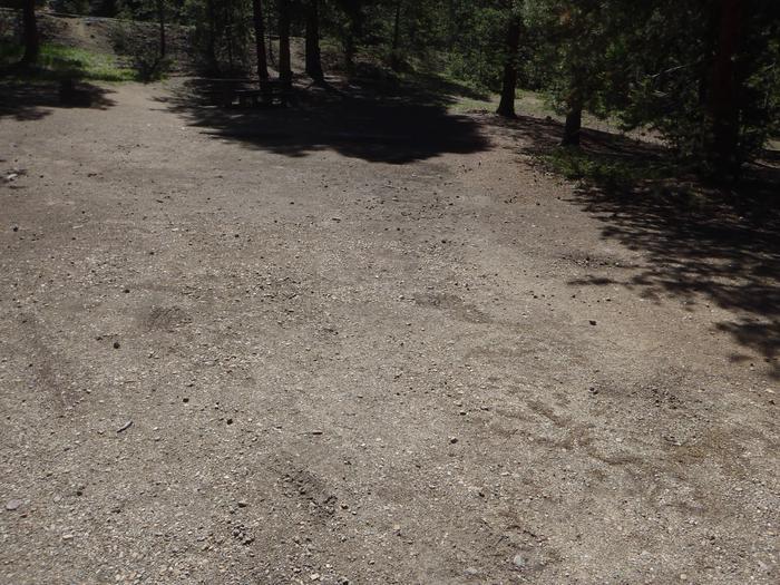 Baby Doe Campground, Site 21 parking