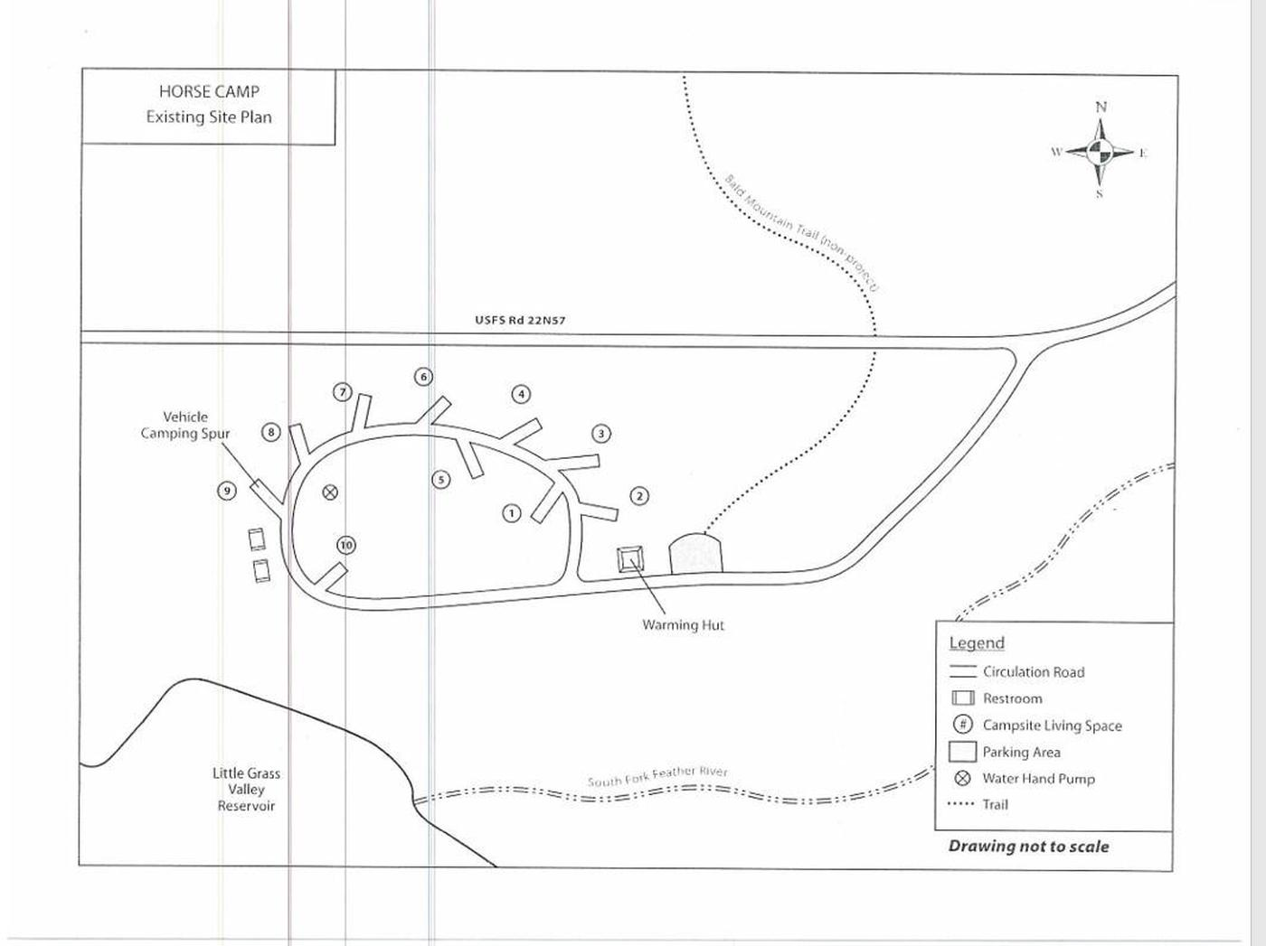 Horse Campground Map