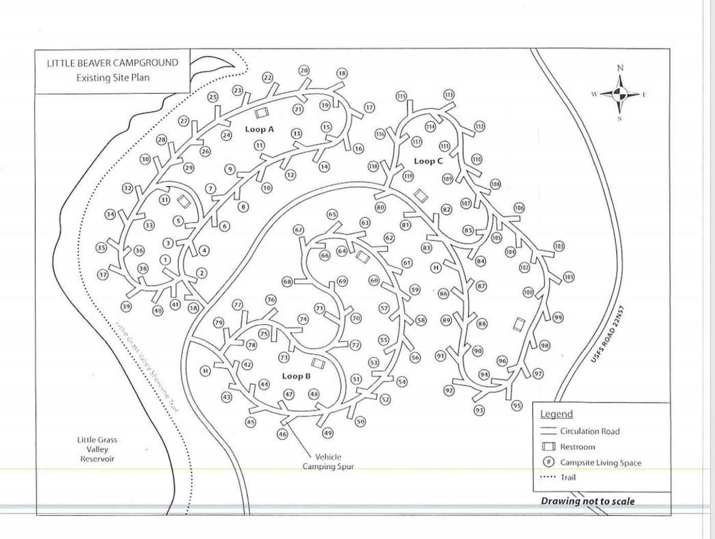 Little Beaver Campground Map