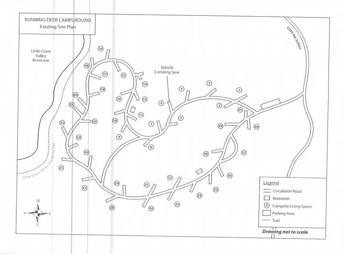 Running Deer Campground mapRunning Deer campground Map