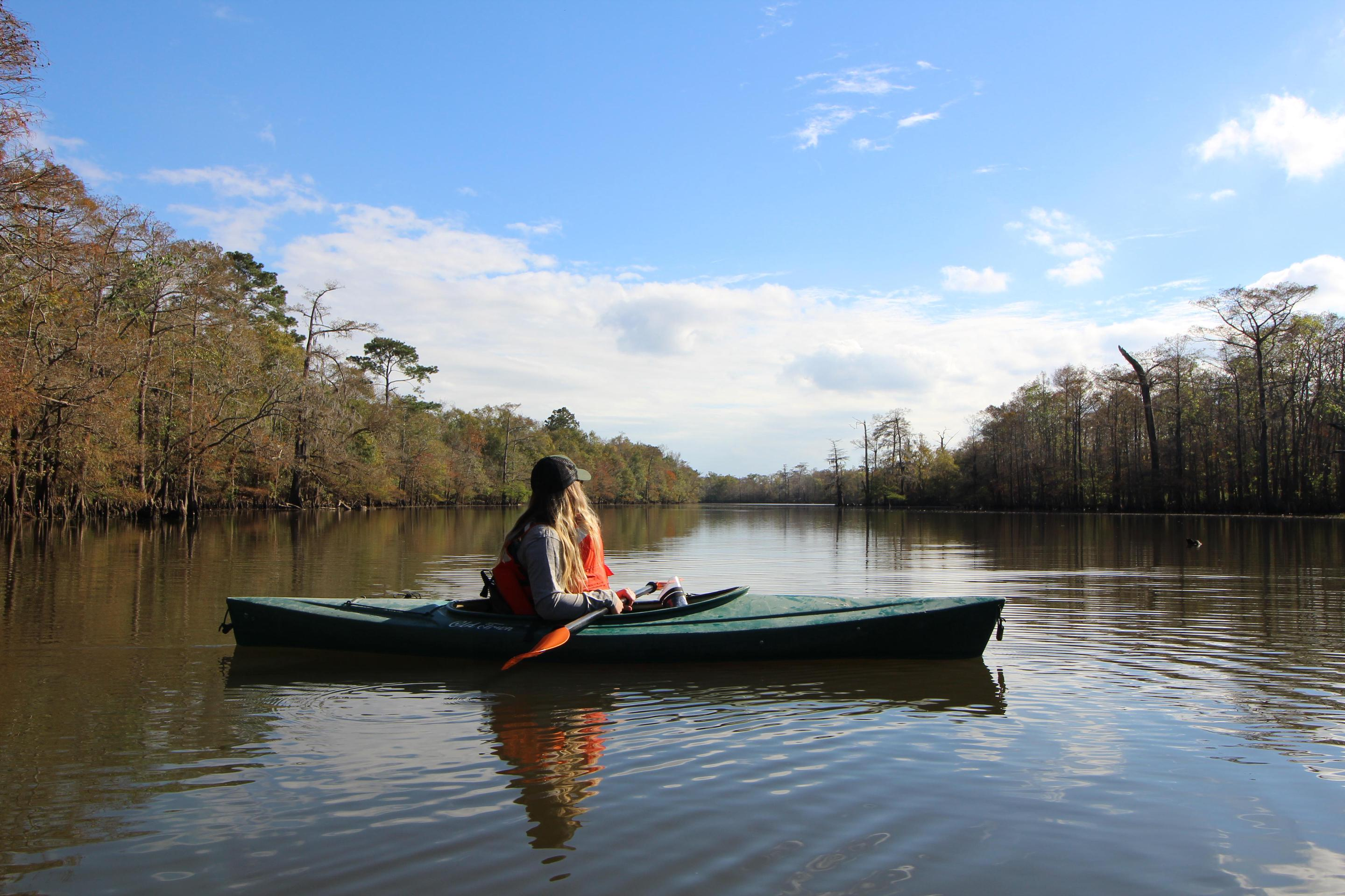 Kayak on the riverSee the Big Thicket by kayak or canoe