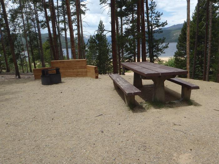 Molly Brown campground, site 8 picnic table and fire ring