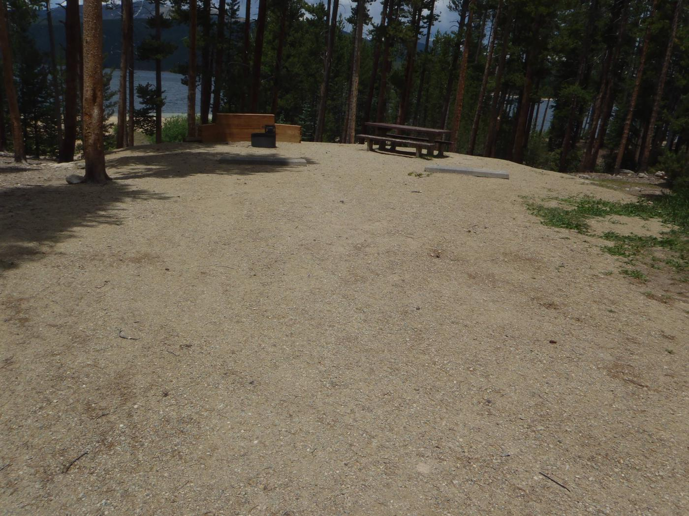 Molly Brown campground, site 8 parking