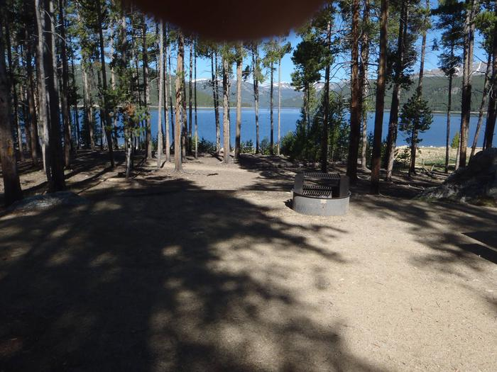 Molly Brown Campground, site 12 view and clearing
