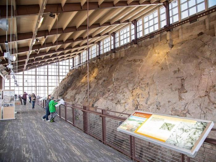 Inside of the Quarry Exhibit Hall.