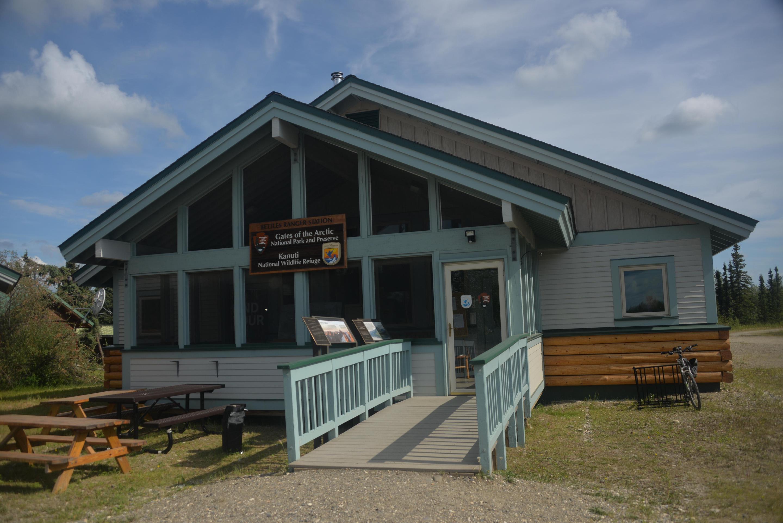 Bettles Visitor CenterBettles Ranger Station in the Summer