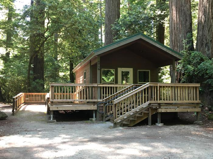 Cabin in Jedediah Smith CampgroundSome bare cabins are available in this campground.