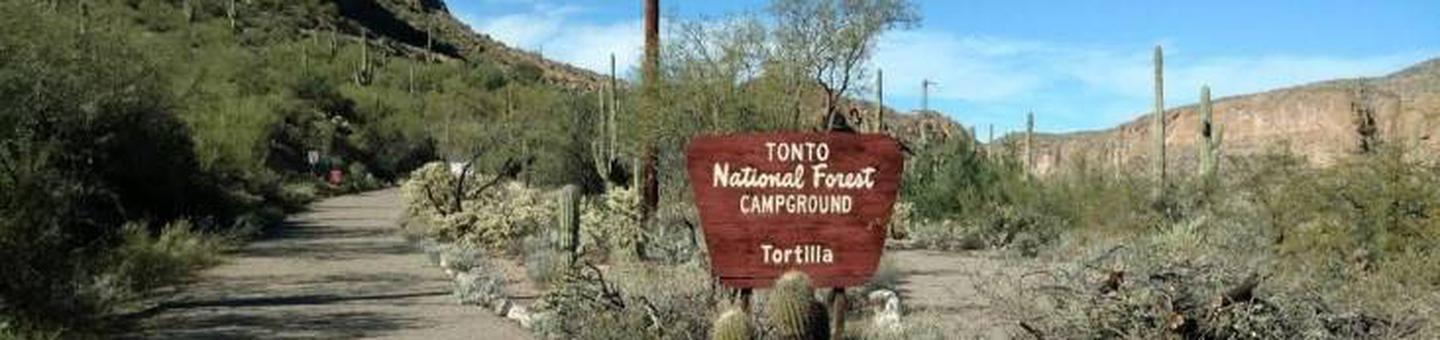 Entrance to Tortilla CampgroundTortilla Campground, Tonto National Forest