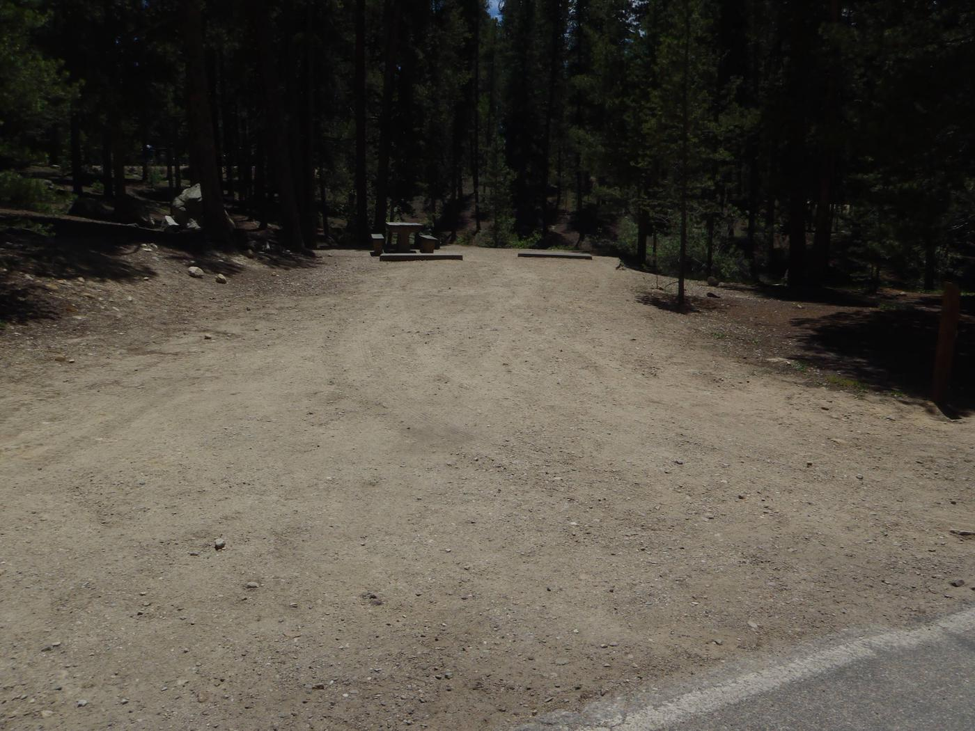 Molly Brown Campground, site 22 parking