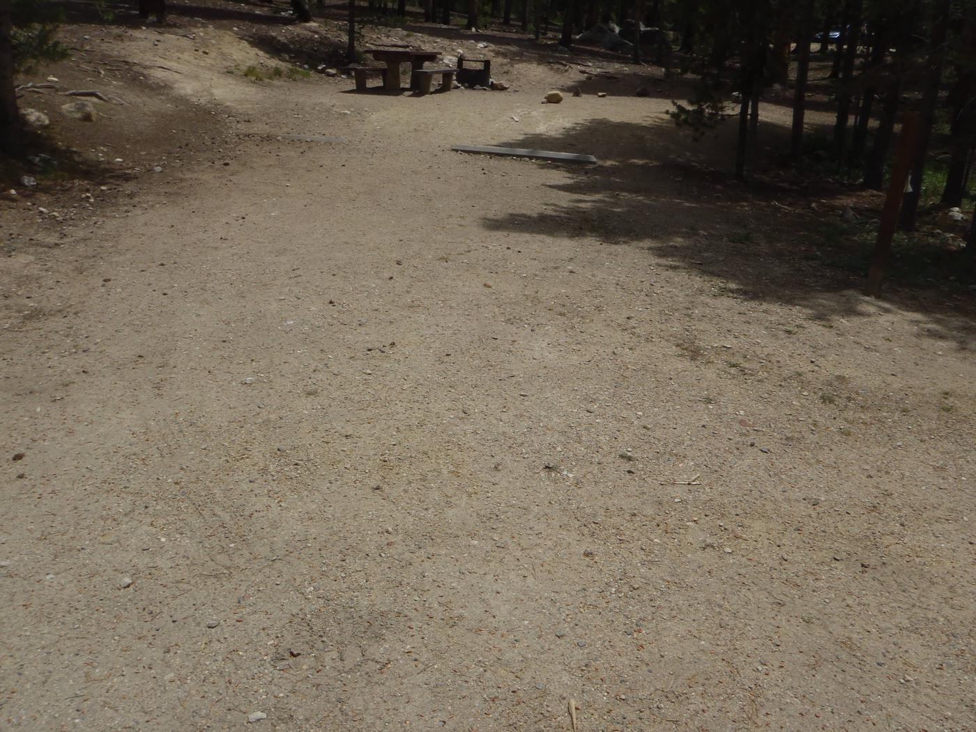 Molly Brown Campground, site 23 parking