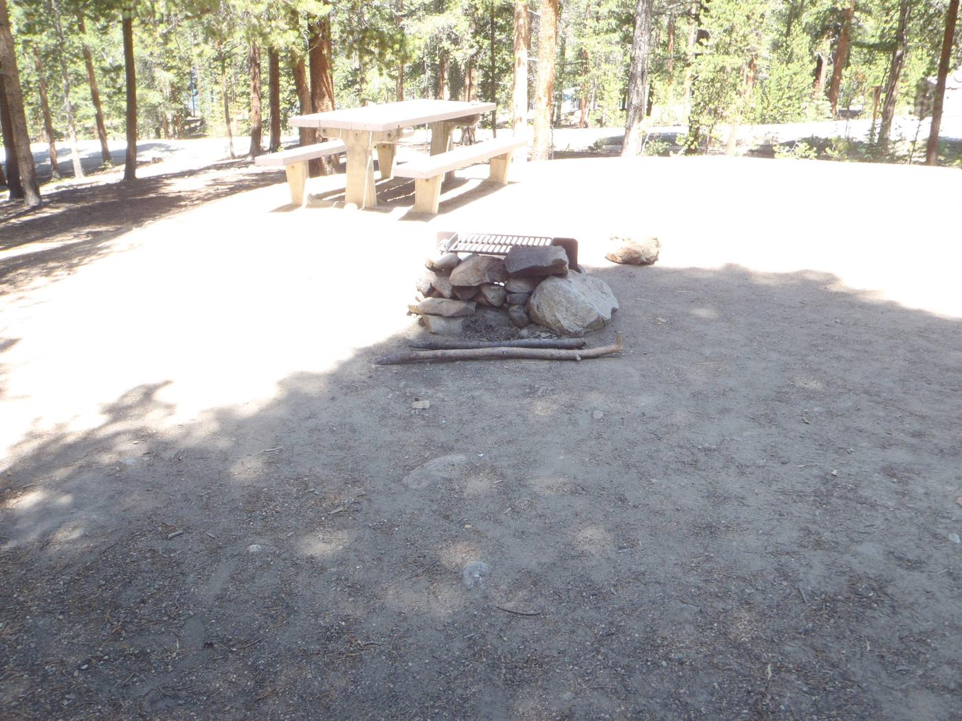 Molly Brown Campground, site 25 picnic table and fire ring 7