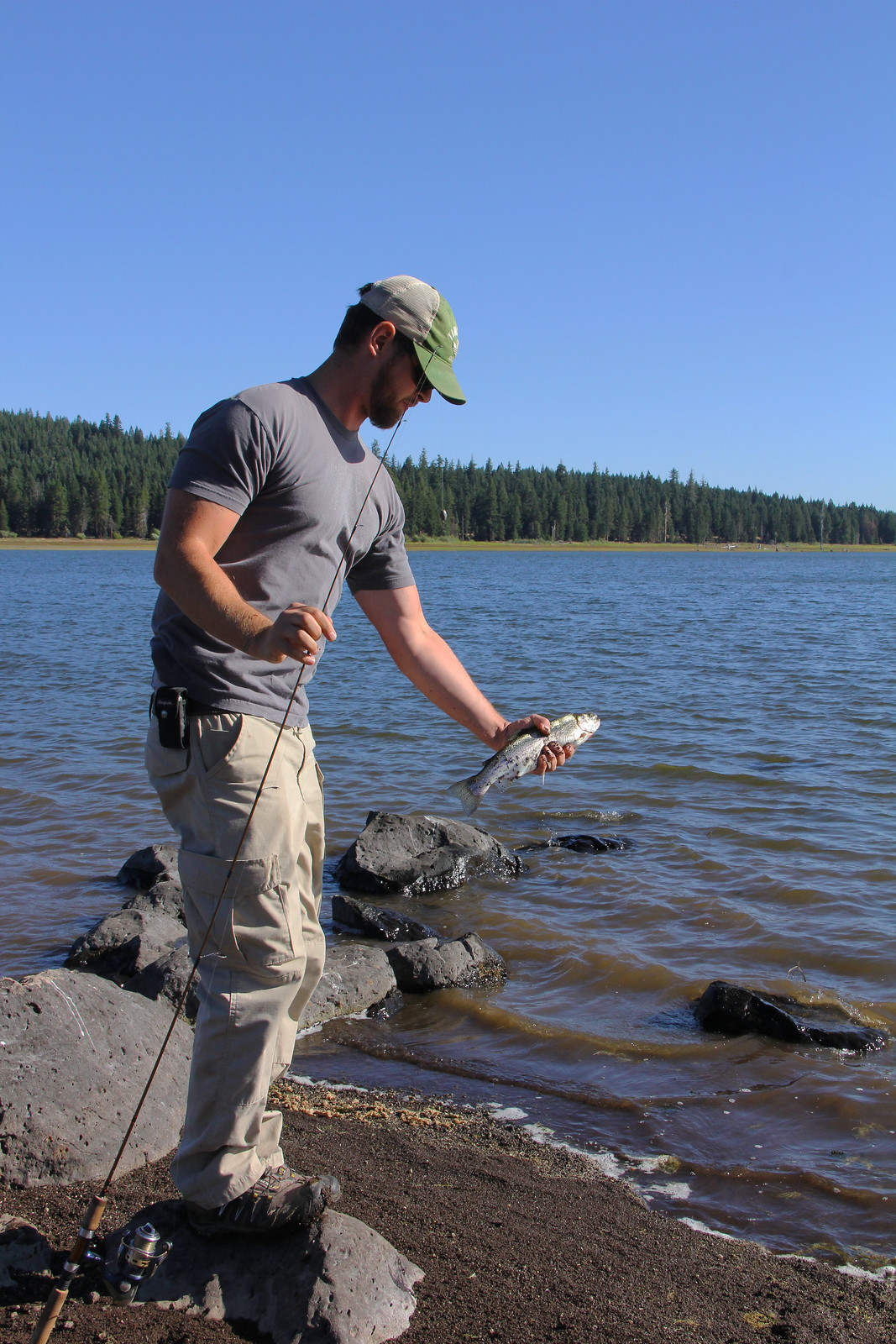 Fishing on Hyatt Lake