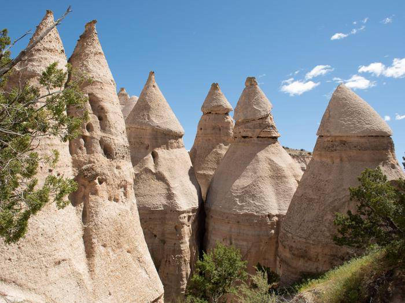 Kasha-Katuwe Tent Rocks National Monument rock peaks