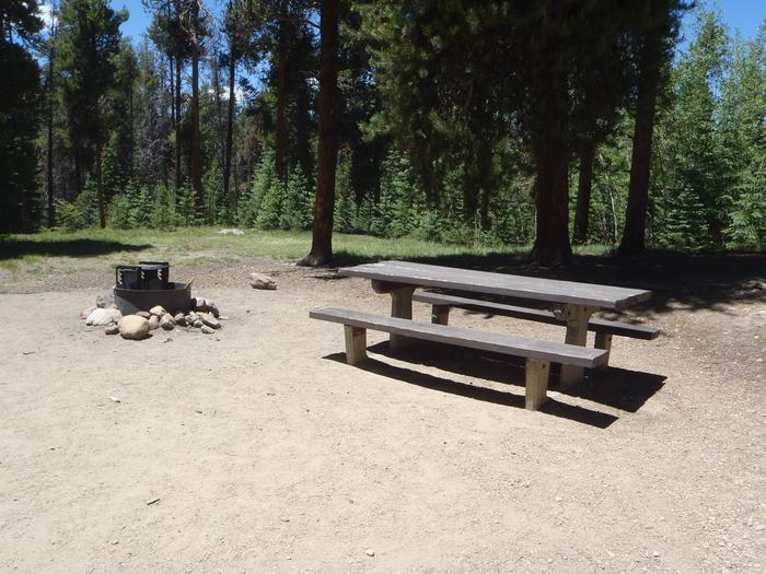 Molly Brown Campground, site 36 picnic table and fire ring 3
