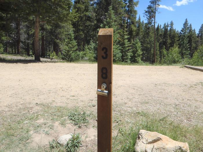 Molly Brown Campground, site 38 marker 2