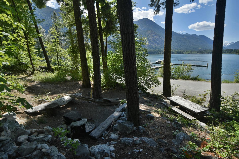 Purple Point campsite overlooking Lake ChelanPurple Point Site 1