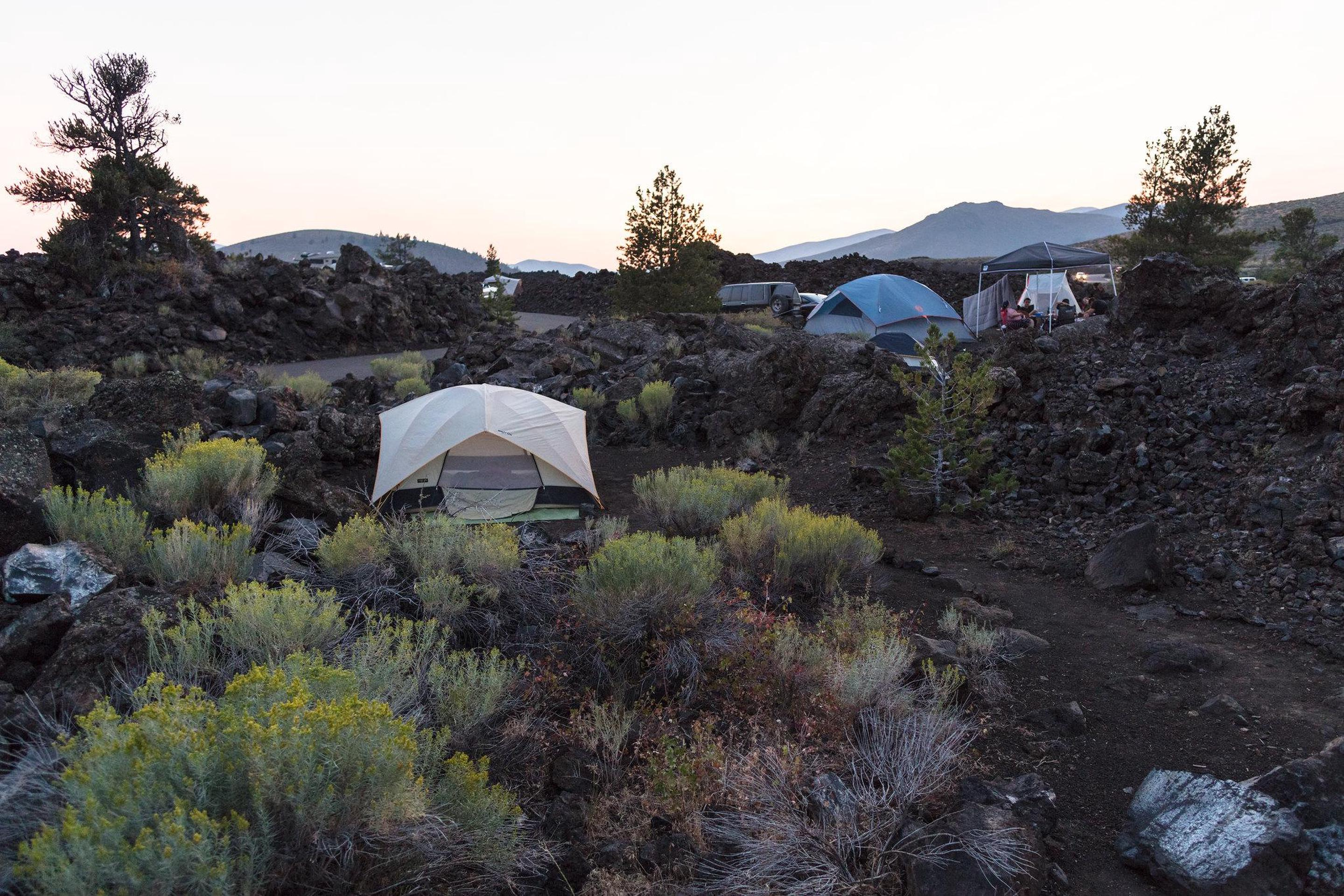 Lava Flow CampgroundThe Lava Flow Campground offers a unique camping experience and is conveniently located near the park visitor center and popular trails.