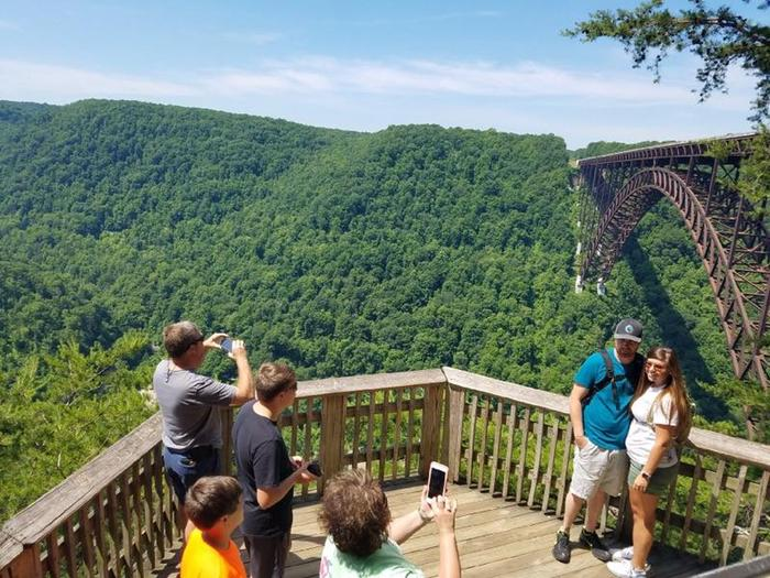View from the Canyon Rim overlookCanyon Rim Visitor Center provides some of the most dramatic views of the New River Gorge Bridge