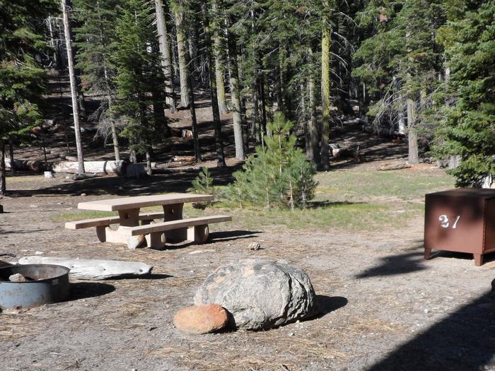 B27Manzanita Lake Campground, Site B27