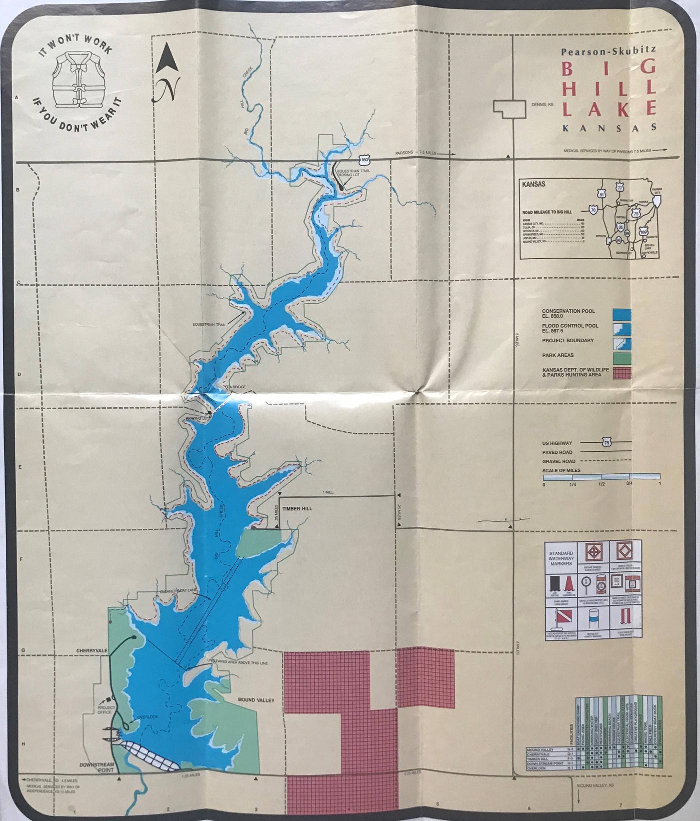 Big Hill Lake Map