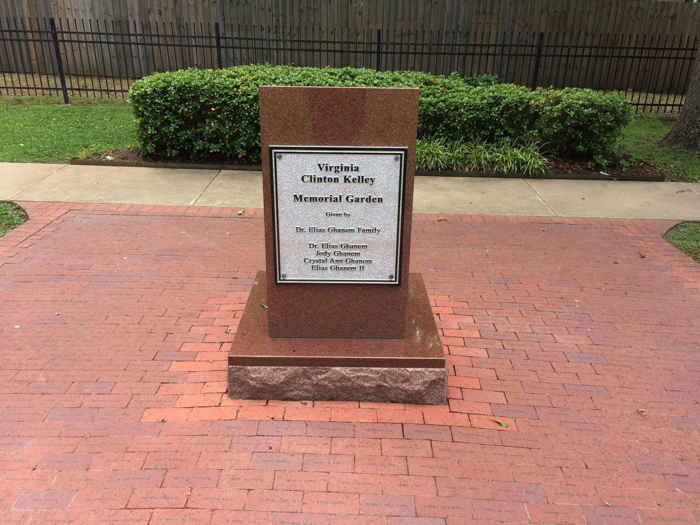 Memorial GardenMemorial garden for his mother, Virginia