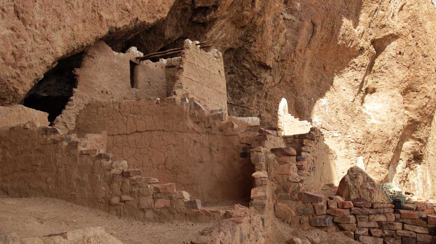 Upper Cliff DwellingFront view of the Upper Cliff Dwelling.