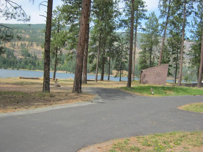 Site 9, Back inSite 9, Back in. Pine Tree, Lake and Amphitheater in background