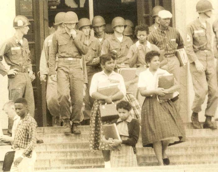 The Little Rock NineIn September 1957, Little Rock Central High School became a symbol for change and a catalyst for transformation in the civil rights movement as the first fundamental test to the United States' resolve to enforce African-American civil rights in the face