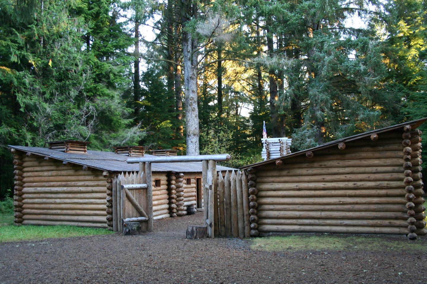 Fort ClatsopThe second replica of Fort Clatsop is the main attraction at Lewis and Clark National Historical Park