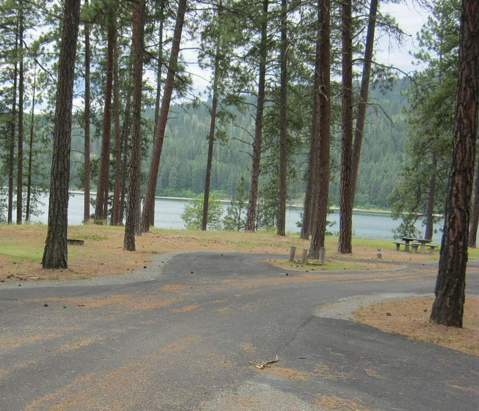 Site 14, Pull ThroughSite 14, Pull Through, Trees and Lake in Background