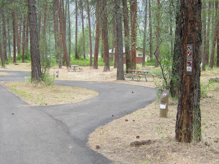 Pull through site with trees in the backgroundSite 24