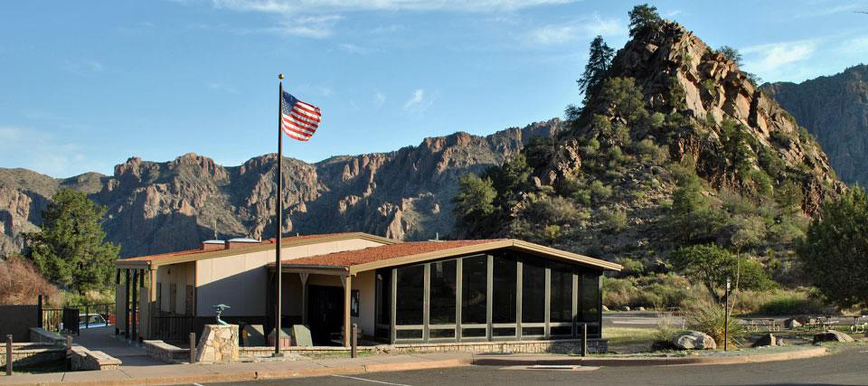 Chisos Basin Visitor CenterChisos Basin Visitor Center is a great place to plan your hike in the Chisos Mountains.
