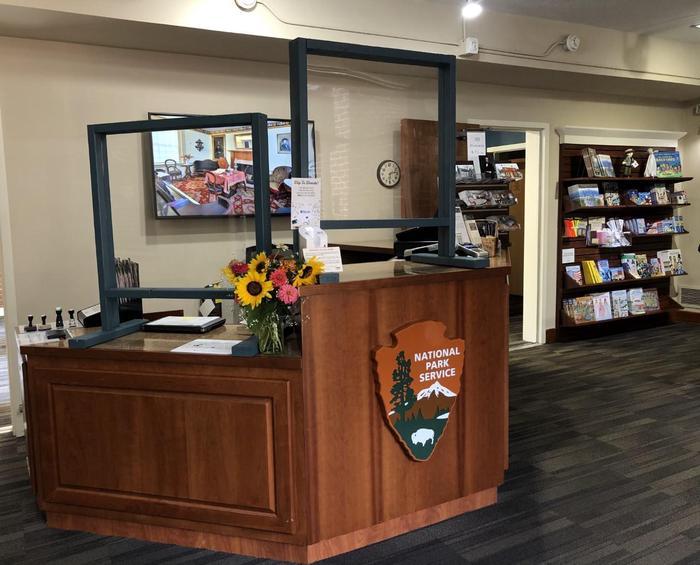 The Visitor Center desk