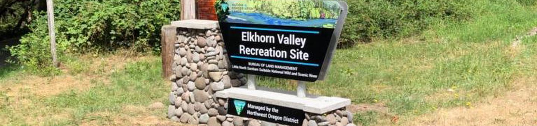Elkhorn Valley Recreation Sitenew portal sign for Elkhorn Valley Recreation Site