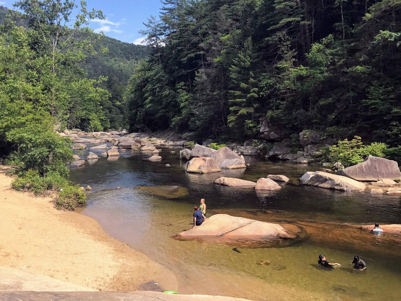 Wilson CreekMortimer Campground is located in the Wilson Creek Wild and Scenic River Corridor