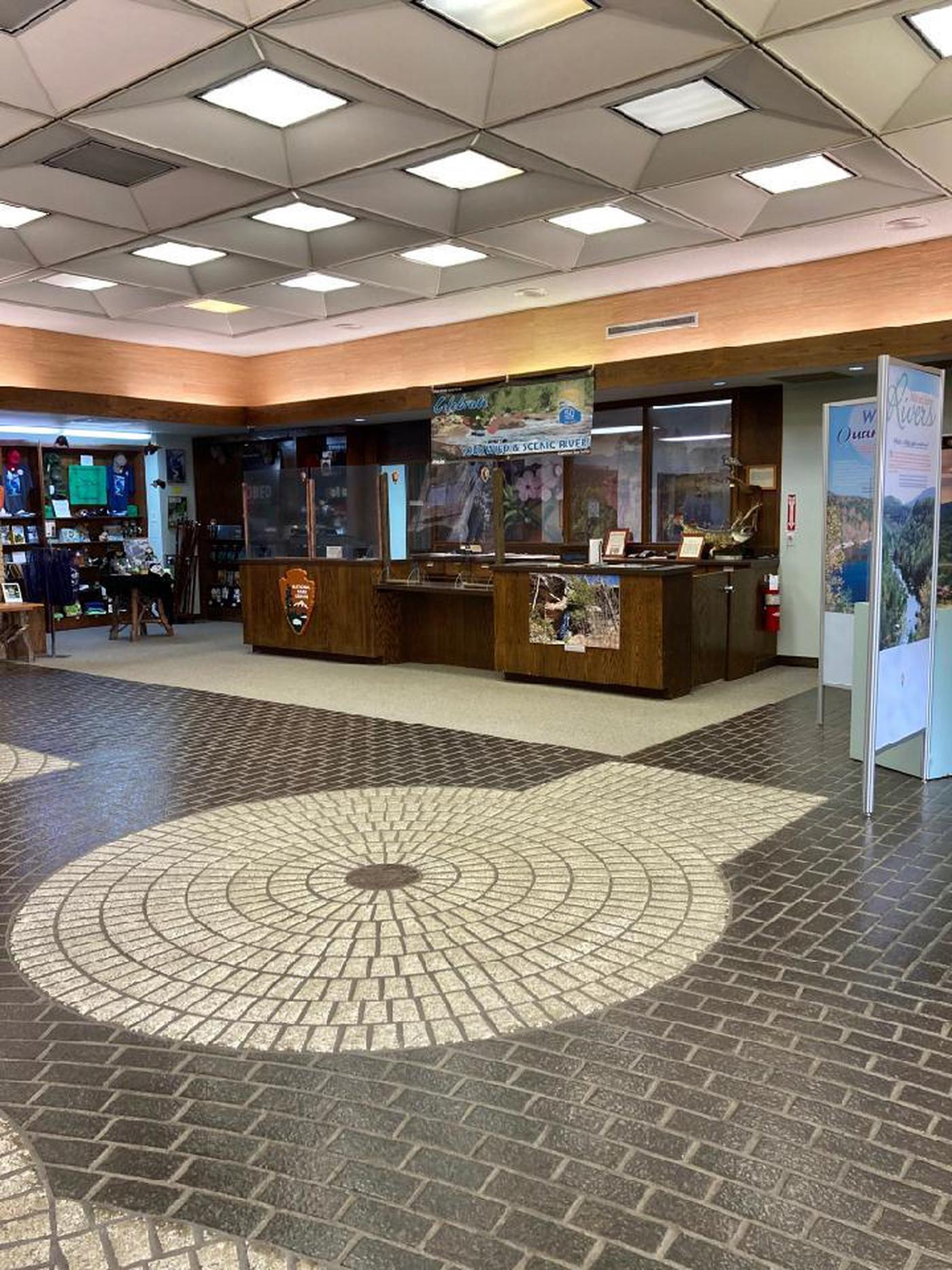 Inside the Obed Wild and Scenic River Visitor Center