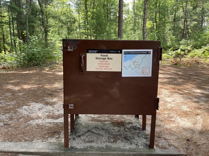 Bear Box at CampgroundBeaver Creek Campground