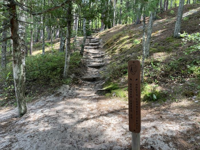 Entrance stairs to Beaver creek campground. Beaver Creek Campground